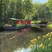 Canal Boat Blank Greeting Card Any Occasion / Birthday Card Narrow Boat Art Card