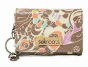 Nwt Sakroots Flap Id Keychain Small Wallet Slate Songbird New Shp Int