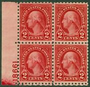 Edw1949sell Usa 1924 Scott 583 Plate Block Of 4. Mint Never Hinged. Cat 110.