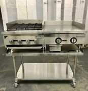 24andrdquo Char Broiler 2andrsquo Grill Flat Griddle Package New Heavy Duty Char Gill