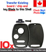 10x New Replacement Keyless Key Fob For Honda And Acura - Shell / Case Only