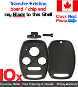 10x New Replacement Keyless Remote Control Key Fob Shell Case For Honda Acura
