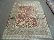 4and039 X 6and039 Antique Hand Made Turkish Tree Of Life Oriental Wool Rug Birds Red