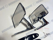 Vintage Style Metal Square Mirrors Classic Musclecar Restomod Hotrod Kit