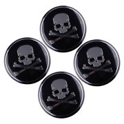 4pcs 56mm Aluminum Cross Bone Skull Logo Car Wheel Center Center Hub Caps