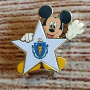 100 Years Of Dreams 100 Massachusetts Flag Mickey Mouse Disney Pin State