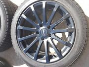 Used Mrr Hr9 Matte Black 18inch Rims With Slightly Used Sumitomo Tires - Qty 4