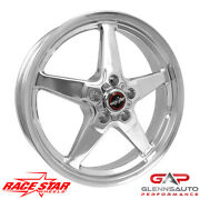 Race Star 18x8.5 92-885152dp For 2005-2015+ Mustang - 92 Drag Star Polished