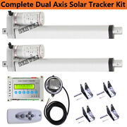 12v Dc Complete Dual Axis Solar Tracking System -5.7mm/s 1500n/330lbs Motor Kits