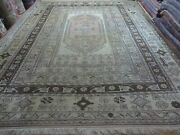 10and039 X 13and039 Vintage Hand Made Turkish Milas Oushak Wool Rug Carpet Tea Washed Nice