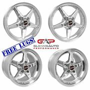 Race Star Drag Pack 18x5/17x10.5 For 15+ S550 Mustang Polished - 4 Wheel Kit
