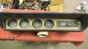 1965 65 Pontiac Gto Original Dash Insert With Gauges And Heater Control W/ Cable