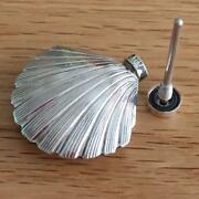And Co Silver Shell Perfume Bottle Dabber Case Funnel Wand Set Box Pouch