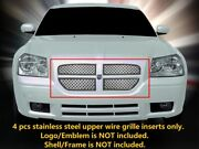 Dual Weave Mesh Grille Grill Main Inserts Upper For Dodge Magnum 2005 2006 2007