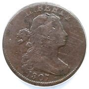 1807 S-274 R-2 Anacs Vg 10 Details Small Fraction Draped Bust Large Cent Coin 1c