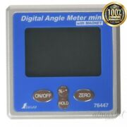 New Shinwa Measurement Digital Angle Meter With Mini Magnet 76447 From Japan