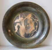 A Danish Modernist Art Deco Inlaid Bronze Bowl By Just Andersen1884-1943