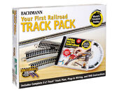 Bachmann Worldand039s Greatest Railroad Track Pack - 45 Pieces - Ho Scale