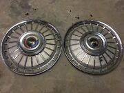 1962 Ford Galaxie And Fairlane 14 Wheel Cover Hubcap Set 2 62 Pair