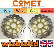 Pair Gold Wavy Discs Yamaha Xjr400 4hm3/4hm5/4hm6 Brembo Cal 1995-99 W930gd2