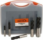 Hertel 3/8 To 1, 4 Flute Roughing Square End Mill Set Tialn Coating, Cobalt,...