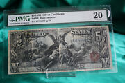 1896 5 Silver Certificate Pmg Vf20 Fr269 Education Note. Bruce/roberts