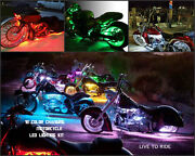 18pc 18 Color Led Wireless Remote Sport Glide Motorcycle Led Neon Lighting Kit