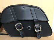 Take Off Black Leather Saddlebags For Most Brands Of Motorcycles M2