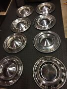 1955-1957 Chevrolet Set Of 8 Wheelcover 55 Chevy Hubcaps Hub Caps Wheel Covers