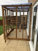 Catio / Cat Lean To 8ft X 6ft X 7.5ft Deluxe Safe Garden Pet Run And Accessories