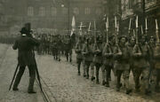 Czechoslovakia Army Marching Past Photographer. Stereoview.