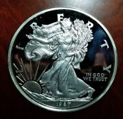 1987 Giant Commemorative Silver Proof Eagle .999 Silver 8 Troy Ounces