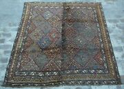 Y291 Best Antique Shirazi Area Rug/ Big Piles Caucasian Tribal Rug 5and0398 X 6and0393