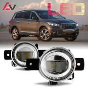 For Infiniti Qx60 14-15 Clear Lens Pair Led Fog Light Lamp Oe Replacement Dot