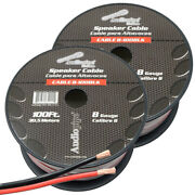 8 Gauge Speaker Wire/cable 2-rolls 200ft Red/black Car Audio Home Sub Woofer