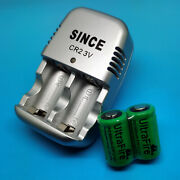 Two Ultrafire Cr2 Cr-2 3v Rechargeable Battery + One Charger Kit Dlcr2 Dlcr2b