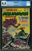 Showcase 30 Cgc 6.5 Dc 1961 1st Silver Aquaman Tryout White Pages H12 123 Cm