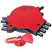Msd Distributor Cap And Rotor Kit 8481 Points / Socket Black/red For Chevy Lt1