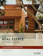 Maryland Real Estate Practice And Law By White, Donald A.