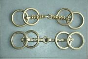 2 Pc Old Brass Handcrafted Solid Heavy Brass Horse Bridles/bits
