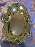 Shreve And Co Sterling Silver Antique Bread Platter Bacchus Pattern C 1850