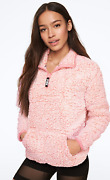 Nwt Victoriaand039s Secret Pink Sherpa Quarter Zip Frosted Angel In Pink Pullover L