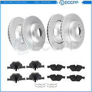 Ceramic Brake Pads And Rotors Front Rear For 2006 Bmw 330i Bmw 330xi Drilled