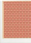 Thomas Edison - First Lamp. Mnh 2¢ Sheet Of 100. Issued 1929 - Excellent