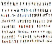 Graham Farish Scenecraft High Quality Hand Painted Figures Sets In N Gauge