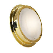 Brass Led Interior Dome Light W/ On-off Switch 6 Inches Warm White Fo-2628-1
