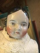 Rare Porcelain Antique Doll 1861 - My Great Grandmothers 27 Very Good Condition