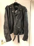 Balenciaga Black Menand039s Leather Jacket. Vintage Calf Skin Cost Andpound2500.00