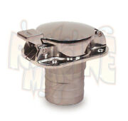 Flip Top Gas Cap Fuel Fill Stainless Steel With 2 Inch Hose Sea Dog 351100