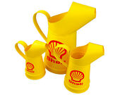 3x Shell Fuel Tin Oil Jugs Cans - 0.25 0.50 And 2 Litres - Mini, Small And Large